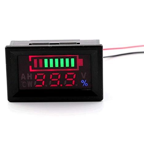 6-60 V Blei-säure-batterie Kapazität Meter Auto Erkennen Batterietyp Lithium-Batterie Monitor Tester für Motorrad Golfwagen (wasserdicht) (36v Batterie Marine)