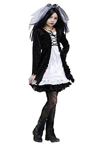 (Mädchen Dead Bride Of Chucky Frankenstein Halloween Kostüm Kleid Outfit 4-10 Jahre 6-8 Jahre)