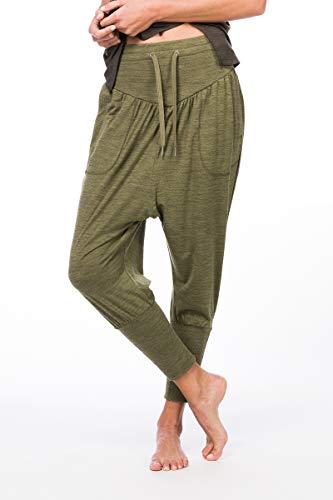super.natural Damen Yoga-Hose, Mit Merinowolle, W HAREM PANT , Größe: L, Farbe: Beige