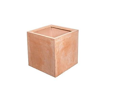 Terracotta Fibrecotta Cube - Large 40cm - 60
