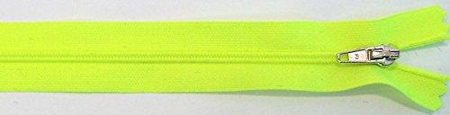 Kissen Knöpfen Mit Gelbe (Reißverschluß Kunststoff nicht teilbar 30 cm neon gelb mit silbernem Zipper)