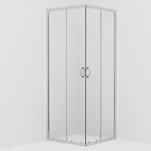 vidaXL Cabine de Douche Rectangulaire avec Porte Coulissante Salle de Bain Salle d'Eau Maison Intérieur Verre de Sécurité 70x70x185 cm