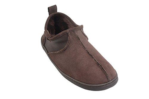 Pantofole In Pelle Dagnello Da Uomo In Vera Pelle Con Fodera In Lana Pantofole Pantofole Marrone
