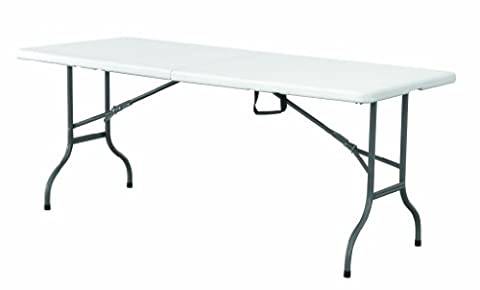 6FT FOOT FOLDING PLASTIC TRESTLE TABLE - FOR CATERING CAMPING MARKETS PARTYS BBQ'S - NEXT WORKING DAY