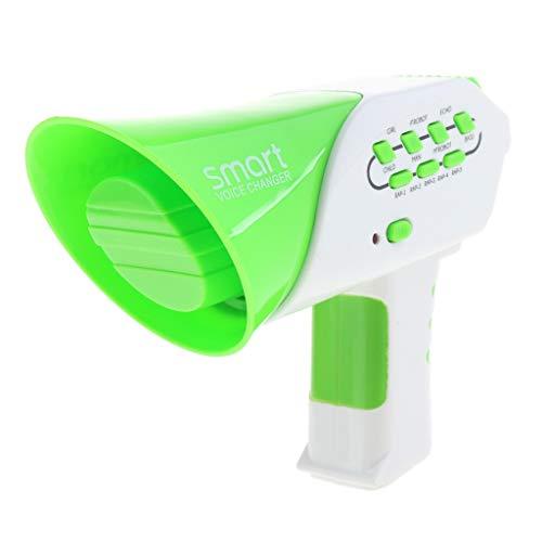FLAMEER Elektronische Plastik Megaphon Lautsprecher Sprachwechsler Spielzeug, Batteriebetrieben, Geburtstagsgeschenk für Kinder - Grün