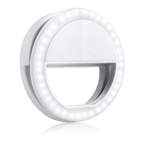 Selfie Luce Anello Flash GIM 36 Selfie Light Ring Portatile LED Esterno Supplementare di Illuminazione Notturna for iPhone Samsung HTC Nokia iPad LG
