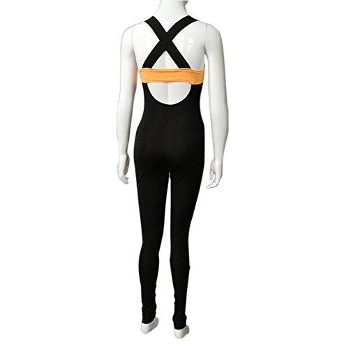 Hosaire 1X Femme Legging de Sport Combinaison en polyester pour fitness/gym/jogging/yoga/course Orange