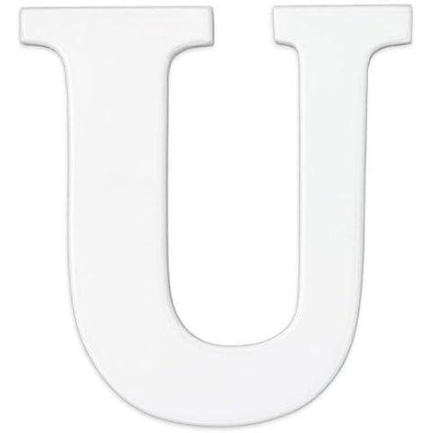 KidKraft-Lettera U in legno, colore: bianco