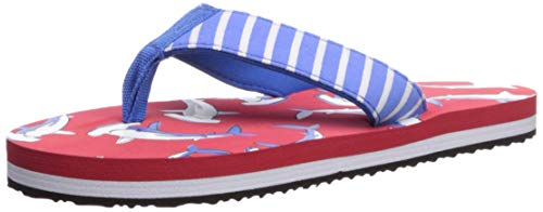 Hatley Jungen Flip Flop Zehentrenner, Red (Loop-The-Looping Hammerheads), 28 EU
