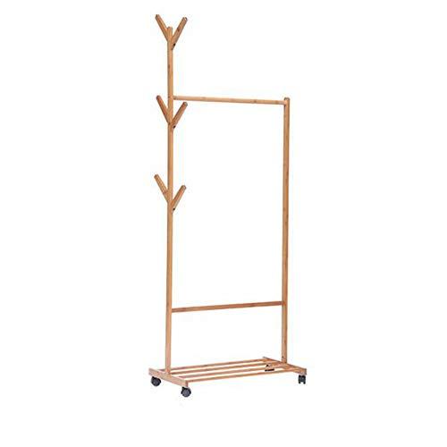 Porte-manteau en bambou chambre à coucher de vigne cintre simple multi-fonction rack de rangement,70cm