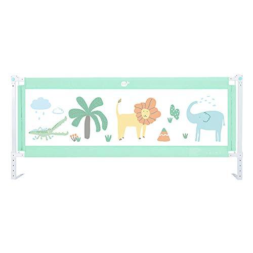 Barres de levage pour barrière de sécurité pour bébé, barrière de lit réglable pour lit queen, barrière de sécurité verte anti-collision pour enfants, 150 × 60 cm / 180 × 60 cm (taille : 180×60cm)