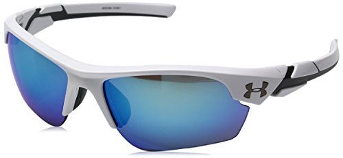 Under Armour Windup Youth Sunglasses 2017 Shiny White/Charcoal Grey/Blue Multiflection