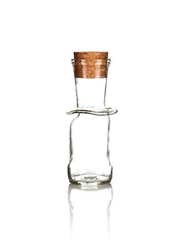 Recyceltem Dressing Karaffe klein klar, Single Öl Ölspender, Hand Made in Devon Von Glas Reform aus aus recycelten Flaschen, umweltfreundlich Geschenk. Wir sind den Schöpfern.