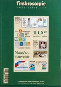 TIMBROSCOPIE du 01/04/1994 - les 10 timbres les plus rares de france numero souvenir dans les coulisses du journal 1984 - 1994, les timbres racontent ces annees qui ont secoue le monde