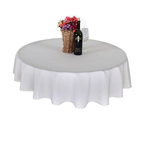 Wasserdicht Tischwäsche Lotuseffekt Tischtuch Rund 160 cm Grau Weiß (Weiße Runde Tischdecke)