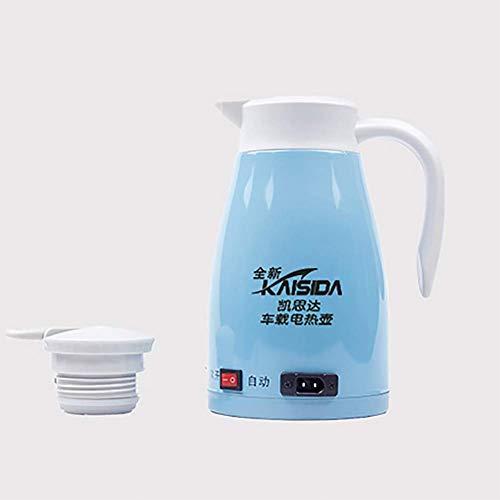 RUIX Auto Wasserkocher, 24 V Auto Wasserkocher Edelstahl Auto Wasserkocher Vier Jahreszeiten Universal,Blue