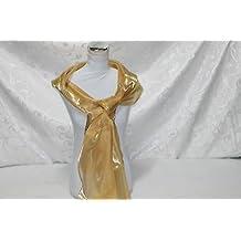 Russo Tessuti Stola Sciarpa Organza Foulard ORO MOda Cerimonia 70x200 cm b11c70de8fa