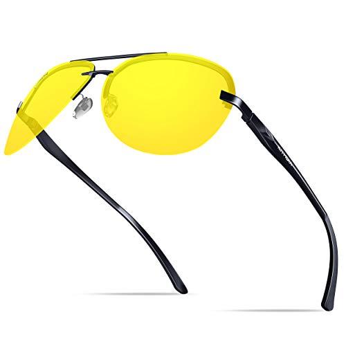 KITHDIA Klassik Al-Mg Metallrahmen UV400 Polarisiert Fahren Sonnenbrille Herren/Damen
