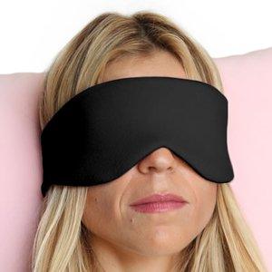 Happyluxe Entkommen Sie Schlaf Maske Augenmaske, ideal für Schlaf, Flüge, Reisen, tiefschwarz (Reise-schlaf-maschine)