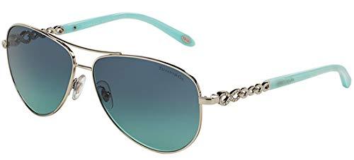 Tiffany & co. 0ty3049b 60019s 58 occhiali da sole, argento (silver/azuregradientbluee), unica (taglia produttore: one size) donna