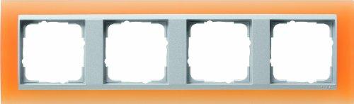 Preisvergleich Produktbild Gira 021453 Abdeckrahmen 4-fach für alu Event opak,  orange