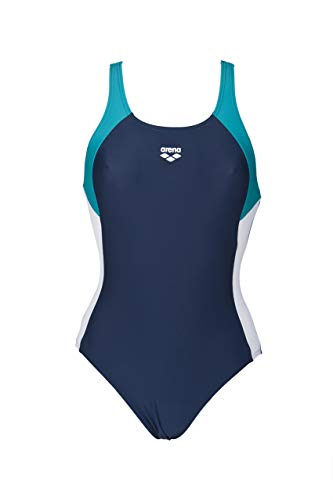Arena W Ren Bañador deportivo, Mujer, Azul (Navy/Persian Green/Bianco), 36 (Talla del fabricante: 42)