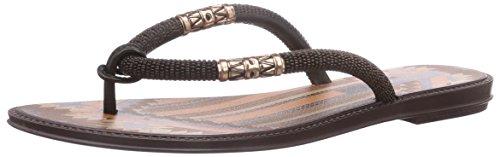 Grendha Tribale Thong, Damen Zehentrenner, Schwarz (Black/Brown 90010), 39 EU