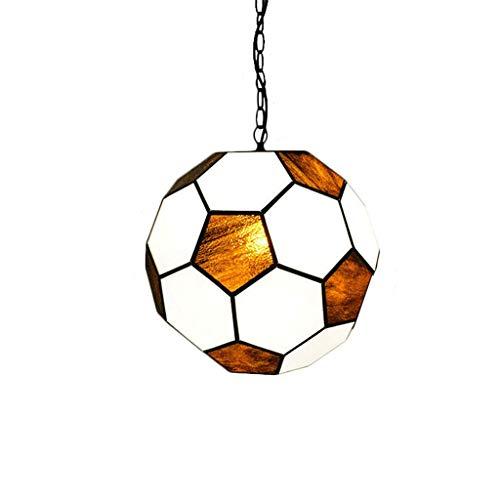 XHJJDJ Kreative Fußball-Deckenbeleuchtung Moderne LED-Pendelleuchten, 110V 220V Neuheiten-Fußball-Deckenpendelleuchte Deckenleuchten Schatten, Licht Kronleuchter Deckenleuchte (größe : 16inch)