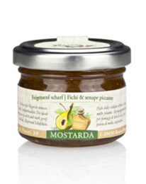 ALPE PRAGAS - Chutney / Mustard (4 x 70g) - FIGS AND SPICY MUSTARD - Handmade In Italy