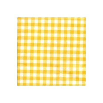 Elegant THE TABLECLOTH SHOP Yellow Gingham Vinyl Table Cover Tablecloth 2 Metres