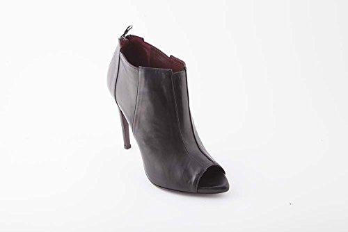 WO Milano tronchetto in pelle spuntato tacco 10 nero donna (40 - nero)