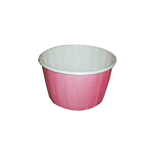 Sugar and Cakes 100 Cupcake Muffin rosa Hellrosa Baby-rosa Papier Backförmchen Backform beschichtet Tasse backfähig benötigt Keine Extra Form