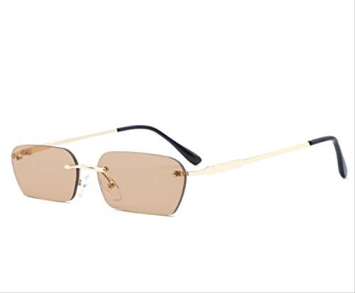 Kleine Linse Hip Hop Mode Männer Sonnenbrille Frauen Trend Persönlichkeit Randlos Weiblich Rot Lila Bunt 4 -