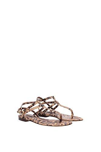 C14726A164680022 Dolce&Gabbana Tongs Femme Cuir Beige Beige