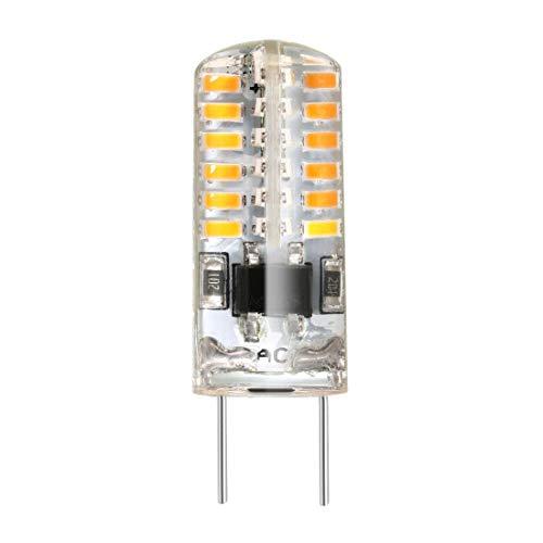 ZCHXD G8 Base LED Bulb 2W AC100-120V 48x3014SMD Energy Saving Silicone Corn Light Bulb Warm White -