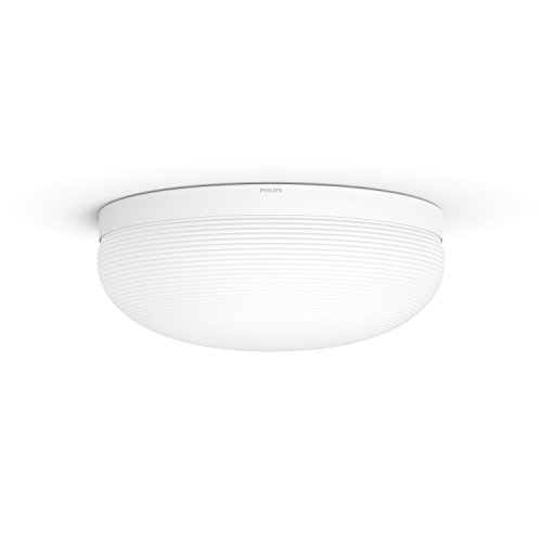 Philips Hue Flourish Lámpara De Techo Inteligente con Led Integrado En Cristal, Luz Blanca Y De Colores, 32 W