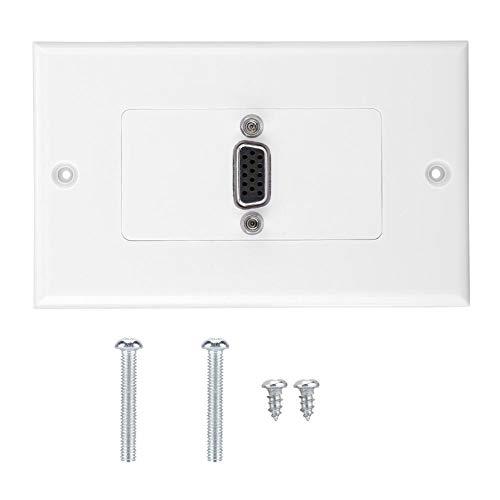 Taidda Steckdosen-Wandhalterung, VGA-Steckdosen-Wandhalterung Adapter Steckdose ABS-Material Wandplatte -