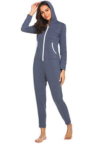 info for 21b6d 17db0 Damen Jumpsuits Schlafoverall Onesie Lang Pyjama Overall ...