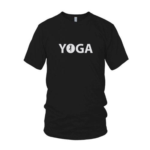 Yoga Logo - Herren T-Shirt Schwarz