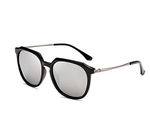 SUN^GLASSES SONNENBRILLEN Neue Optische Sonnenbrille Persönlichkeit Sonnenbrille Fahren Sonnenbrille Offset, Black Box/Mercury Chip