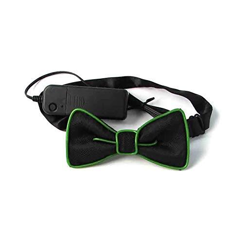 Dastrues Mode Männer LED EL Draht Krawatte Leuchtende Neon Blinklicht Fliege Für Club Cosplay Abend Party Dekoration (El Draht Kostüm Kind)