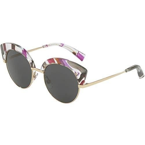 Alain mikli occhiali da sole, modello 0a04007 colore 008/87, montatura in metallo a gatta color oro e lente tonda scura, con comodi naselli