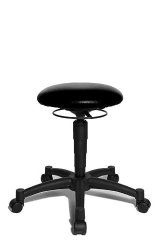 Topstar Hocker Body Balance 10 schwarz desinfizierbar - Hartbodenrollen - Sitness
