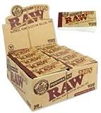 RAW Filtri per sigaretta rollabili in canapa e colone naturale, pacchetto da 50 filtri, confezione intera sigillata