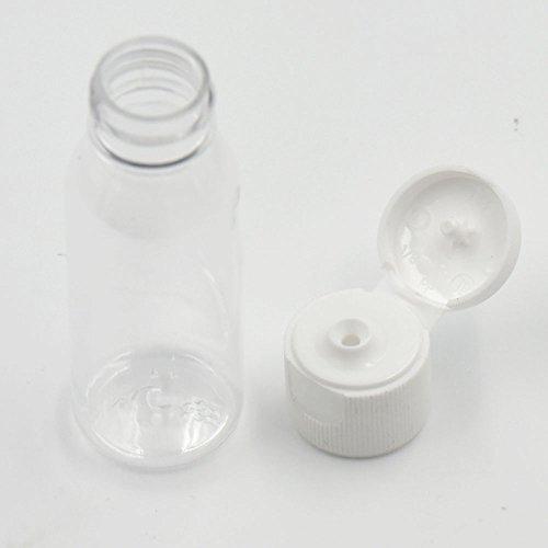 20pz 30ml bottiglie vuote in plastica dura parziale spedizioni viaggio turno vite di 3colori a scelta Clear White