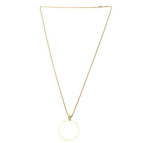 A0127 Lupe 5x Lupe Schmuck Objektiv Anhänger Lupenkette Monokel Halskette
