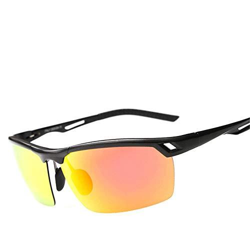 AUMING UV400 Schutz Sport Sonnenbrille Aluminium Dazzle Color Reflective Radfahren Sportbrillen Brillengläser Magnesium polarisierende Sonnenbrillen