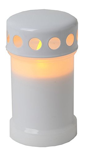 LED-Windlicht flackernd Farbe: weiss -
