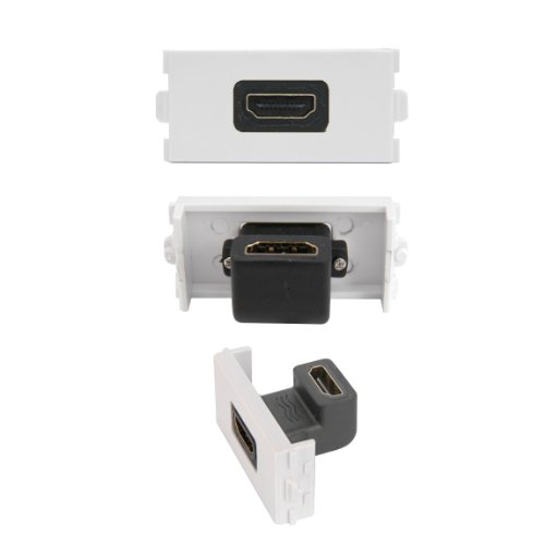 Cablefinder HDMI Buchse Modul/Modular Wall Face Plate Outlet-rechts Winkel 90Grad - Hdmi-modular Wall Plate