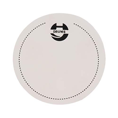 SM SunniMix Bass Drum Fell Schützt Trommelhaut Effektiv und Verlängern Haltbarkeit der Trommelhaut - Weiß